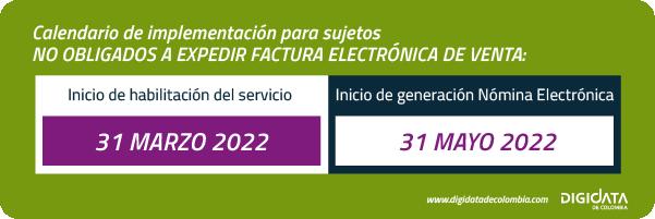 nomina electronica en colombia no obligados a facturar